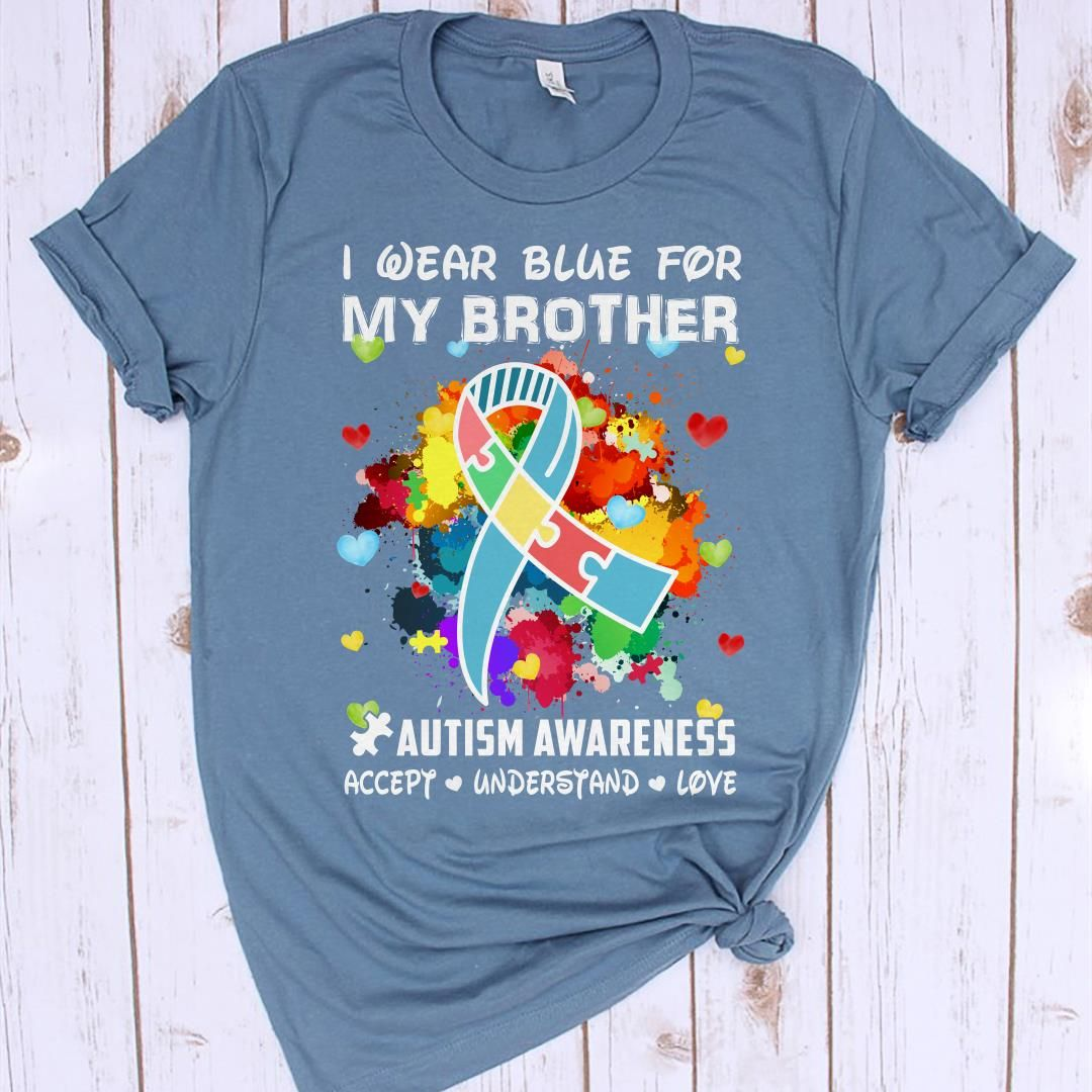I Wear Blue Autism Awareness ADULT Unisex TShirt I/'m a Fighter|Autism Mom|Autism Fighter|Autism Warrior|Special Ed Gift|Autism Gifts|Autism