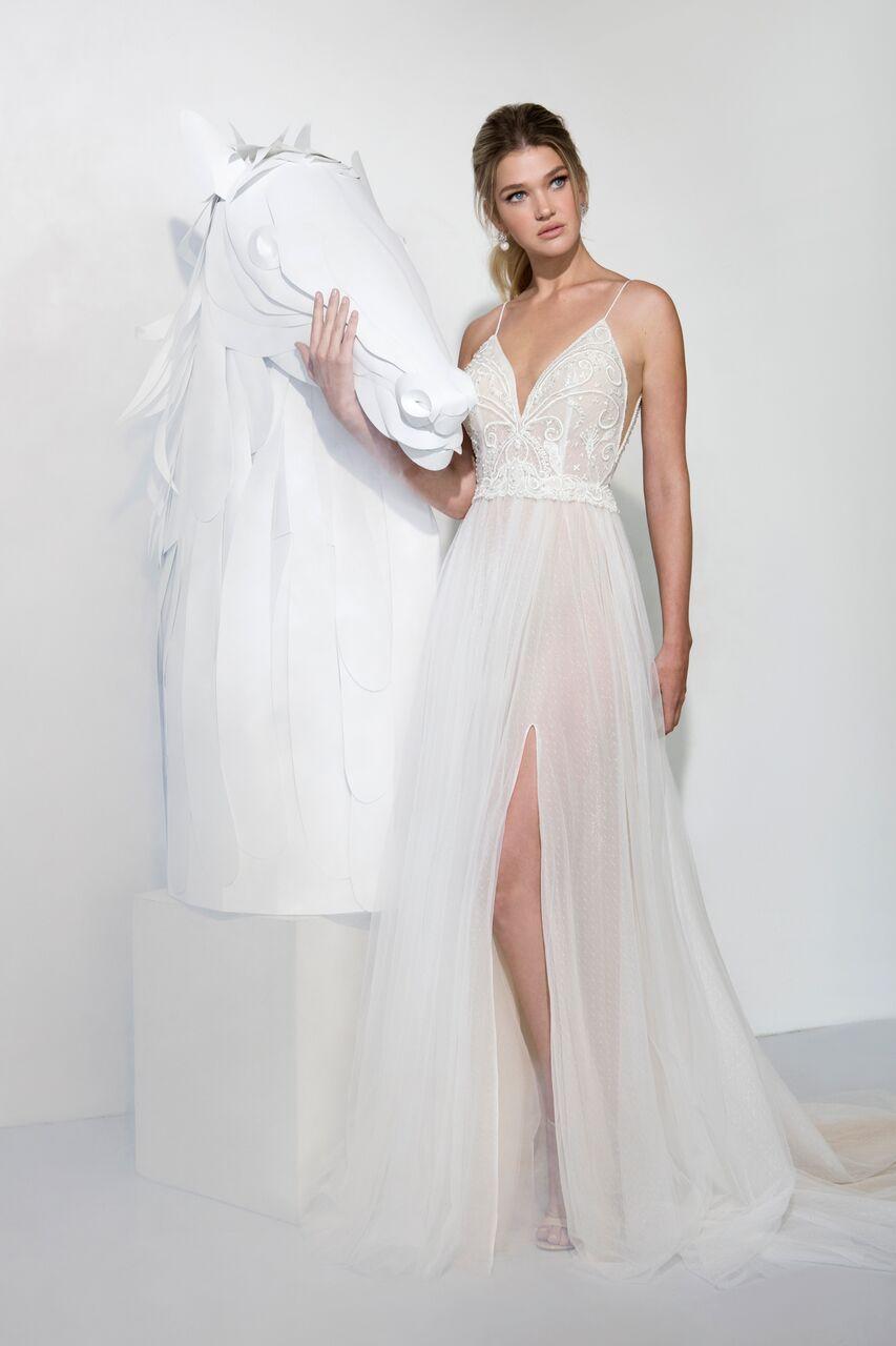 9a43a3ead0d3 Beach Wedding Gown. Lavish collection by yaniv persy 2019. #beachwedding  #romanticbride #romantic #sensualweddinggown #heathers #bohowedding  #bohobride ...