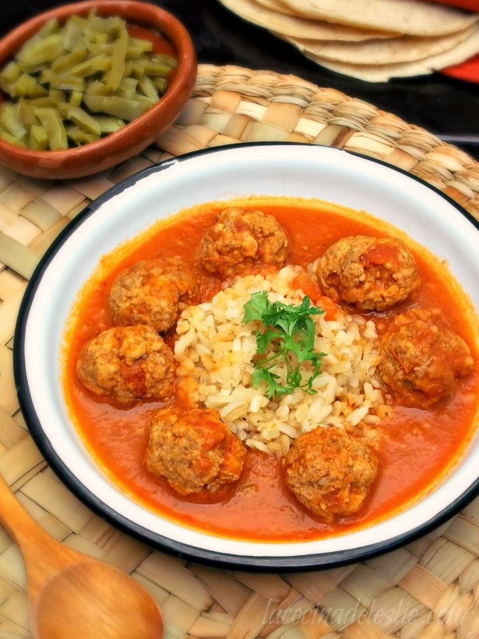 Albondigas Opskrift i have to try this version! albondigas al chipotle / chipotle