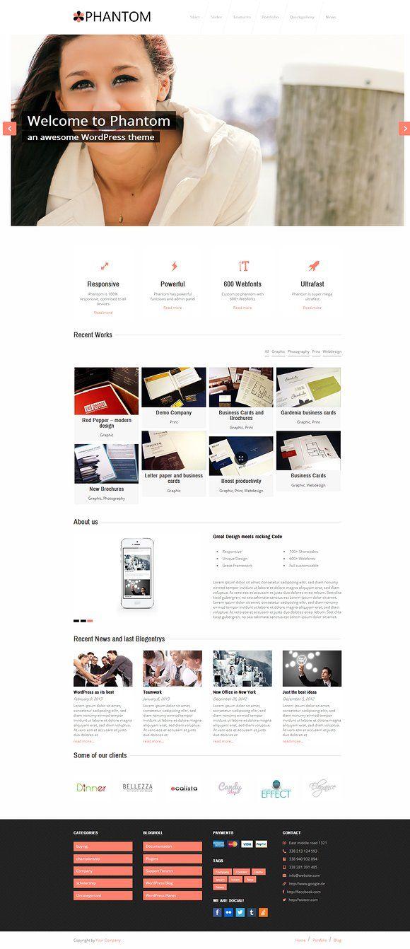 Phantom Responsive Business Theme By 7theme On Creativemarket