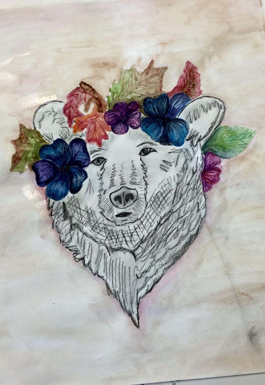Symbolic Self Portrait Project 331 A Bear Symbolizes Strength