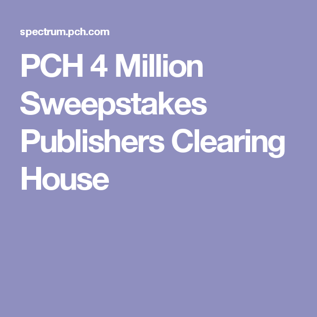 PCH 4 Million Sweepstakes Publishers Clearing House | Cars | Winning
