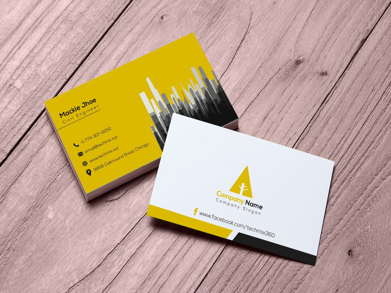 Civil Engineer Business Card Design With Images Visiting Cards
