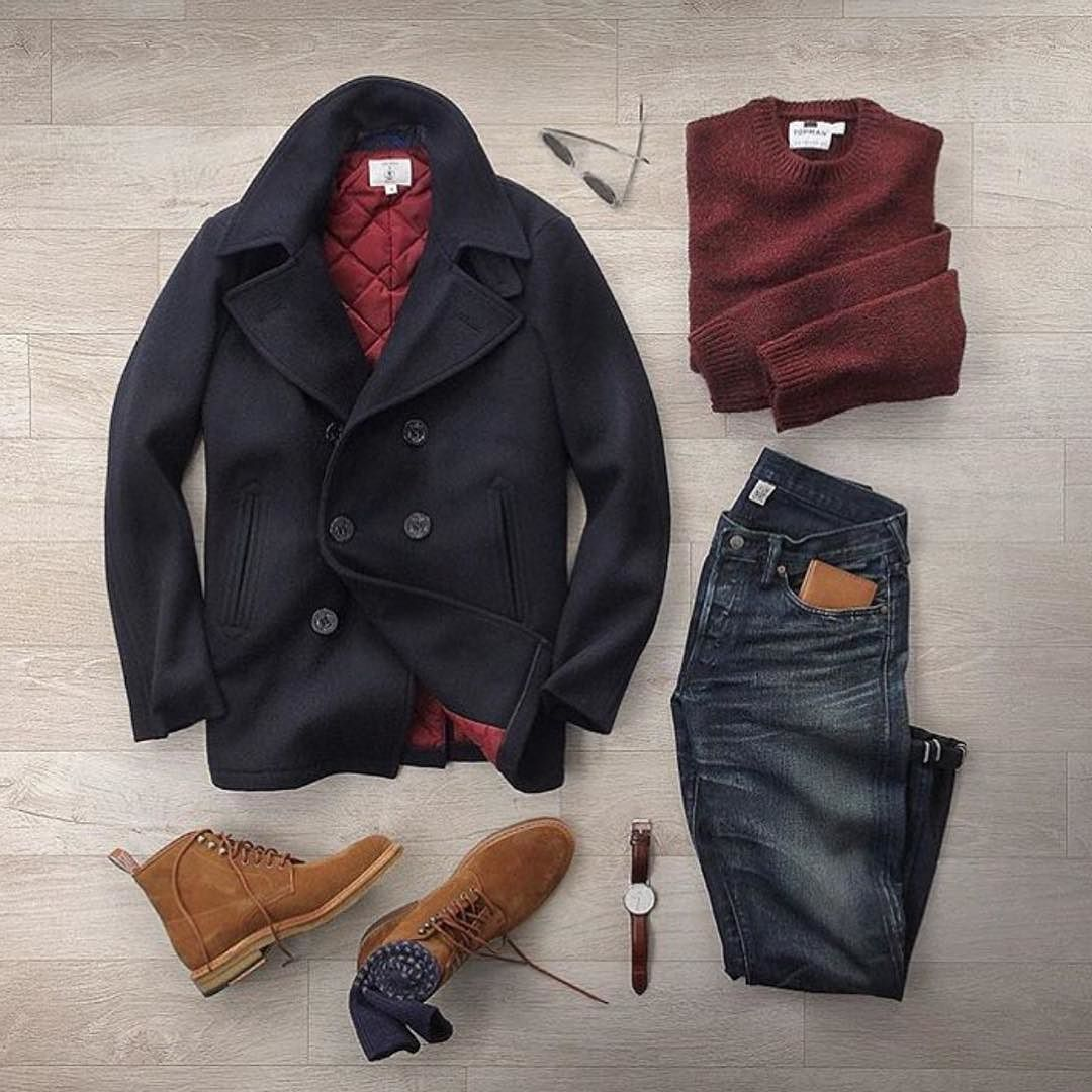 Pea coat weather from @thepacman82 Pages to upgrade your style @stylishmanmag @shopthatgrid