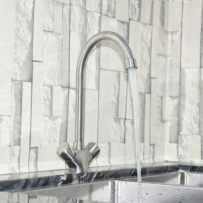 JMKWS Modern Kitchen Water Faucet Double Handle Designer Kitchen ...
