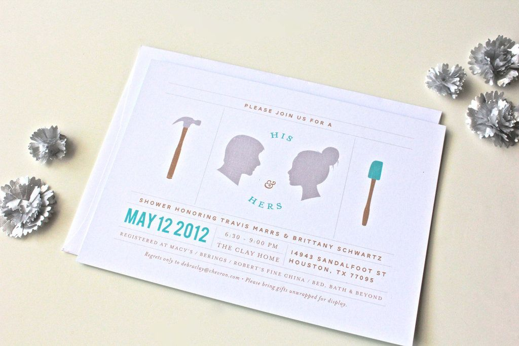 0ebdbf12076 His And Hers S Wedding Shower Invitations Silhouettes Full
