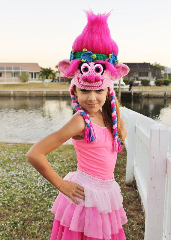 Trolls Movie Poppy Crochet Hat PATTERN, PDF Crochet Pattern, Trolls ...