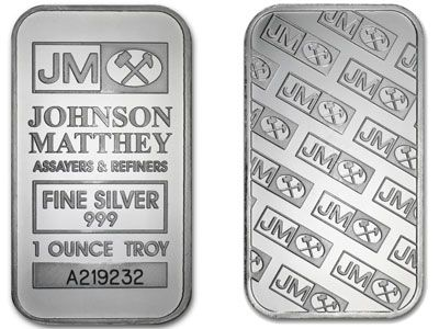 Johnson Matthey 1 Ounce Silver Bullion Bar Gold And Silver Coins Silver Investing Silver Bars