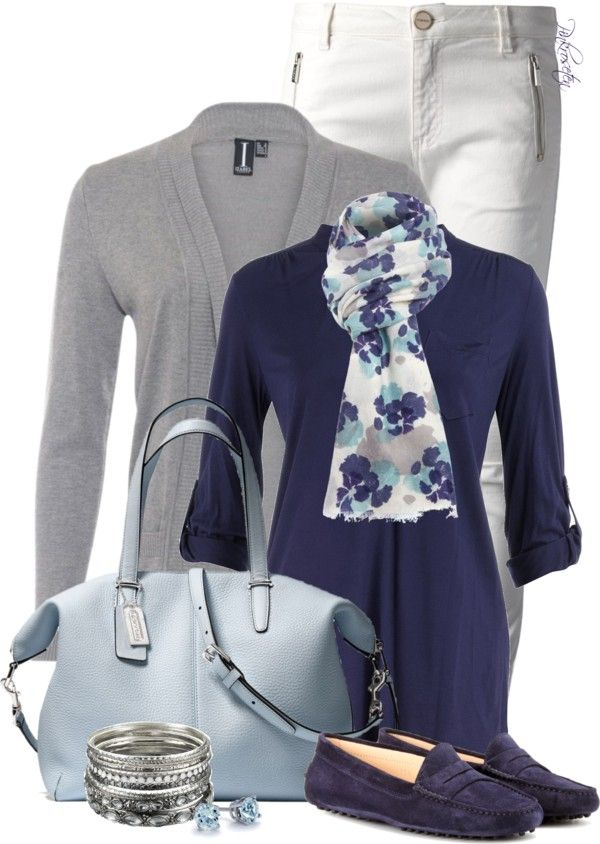 20 Fancy Polyvore Outfit Ideas With Cardigans | Navy blue shirts ...