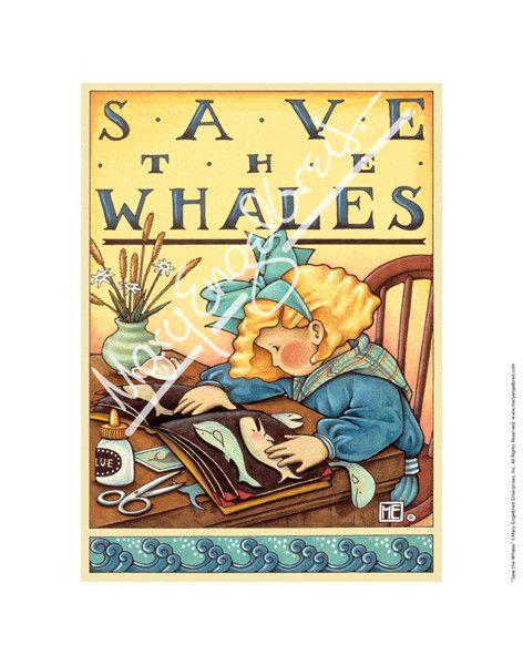 Save the Whales Fine Print – Mary Engelbreit Studios