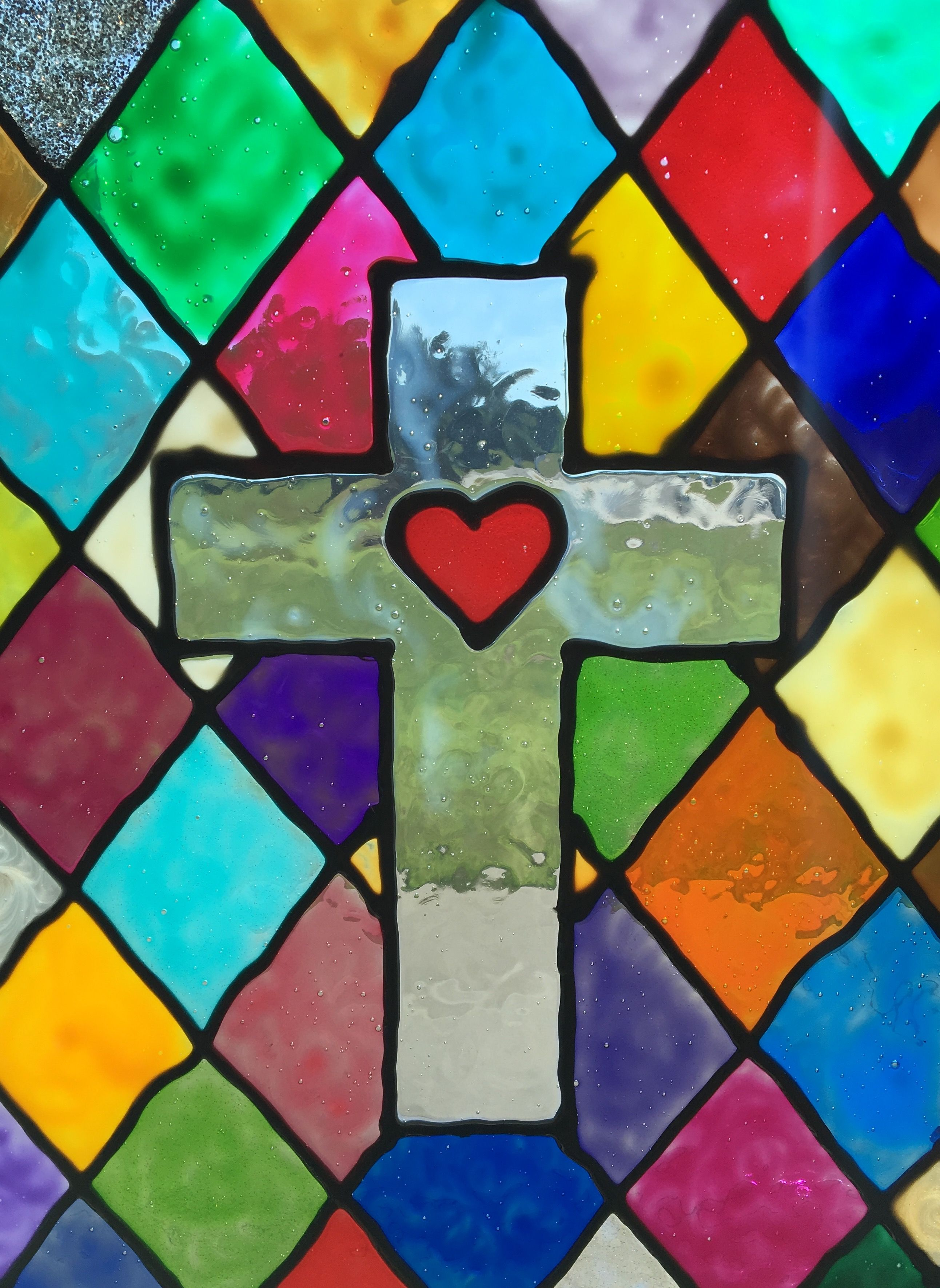 Vacation Bible School Craft Stained Glass Window This Is Easy