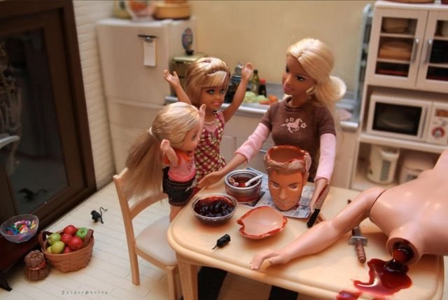 Bad Toys For Girls : Photos of barbie dolls doing very bad things by mariel