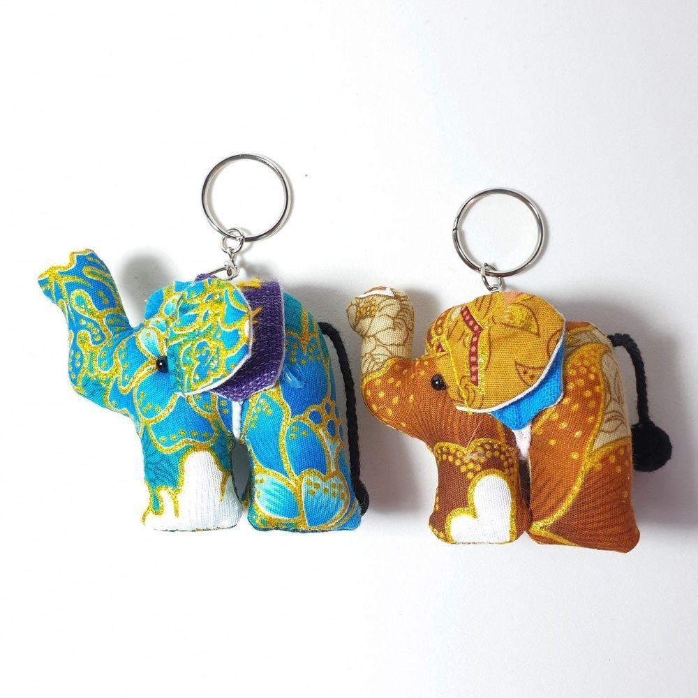Fashion New Jewelry Gifts Alloy Bag Pendant Key Ring Elephant Shape Key Chain