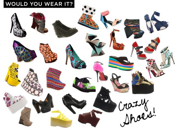 """""""Would You Wear It: Crazy Shoes!"""" by fashionesta13 ❤ liked on Polyvore"""
