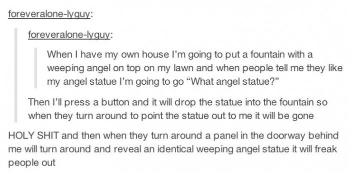 Whovians when they get their own house