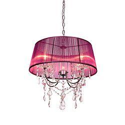 Crystal Chandelier, 4 Light,Country Creative Metal Fabric | LightInTheBox