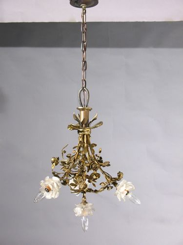 Circa 1930 very nice french bronze art nouveau chandelier has its circa 1930 very nice french bronze art nouveau chandelier has its original rosette shades aloadofball Image collections