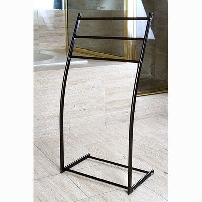 Kingston Br Edenscape Free Standing Towel Rack Finish Oil Rubbed Bronze