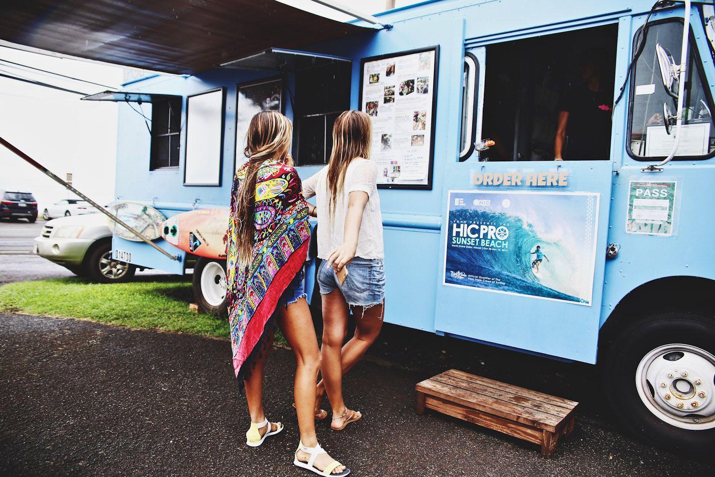 Pupukea Grill food truck on O'ahu's North Shore, Hawaii.