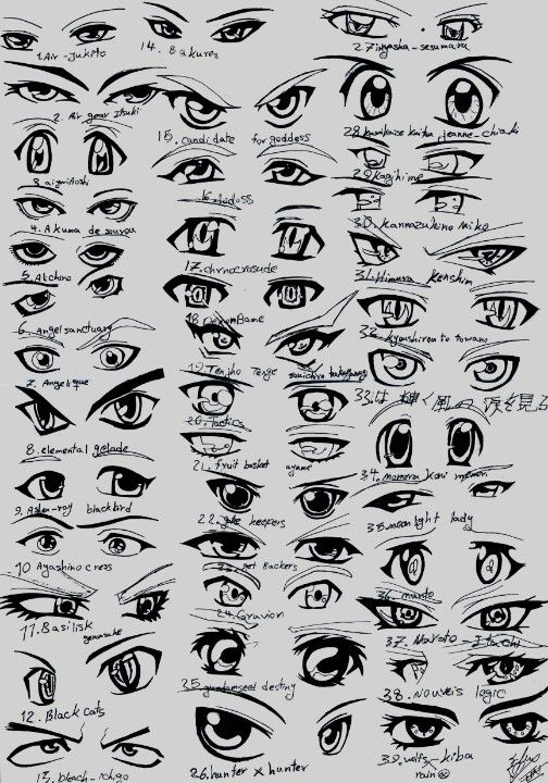 How To Anime Eyes Sketches Drawings In 2019