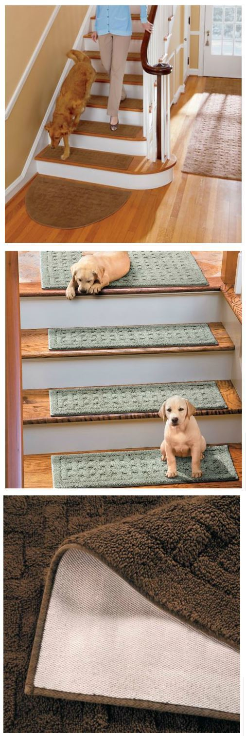 Stair Treads 175517: Washable Stair Treads Anti Slip Back Set Of 4 Rugs 9