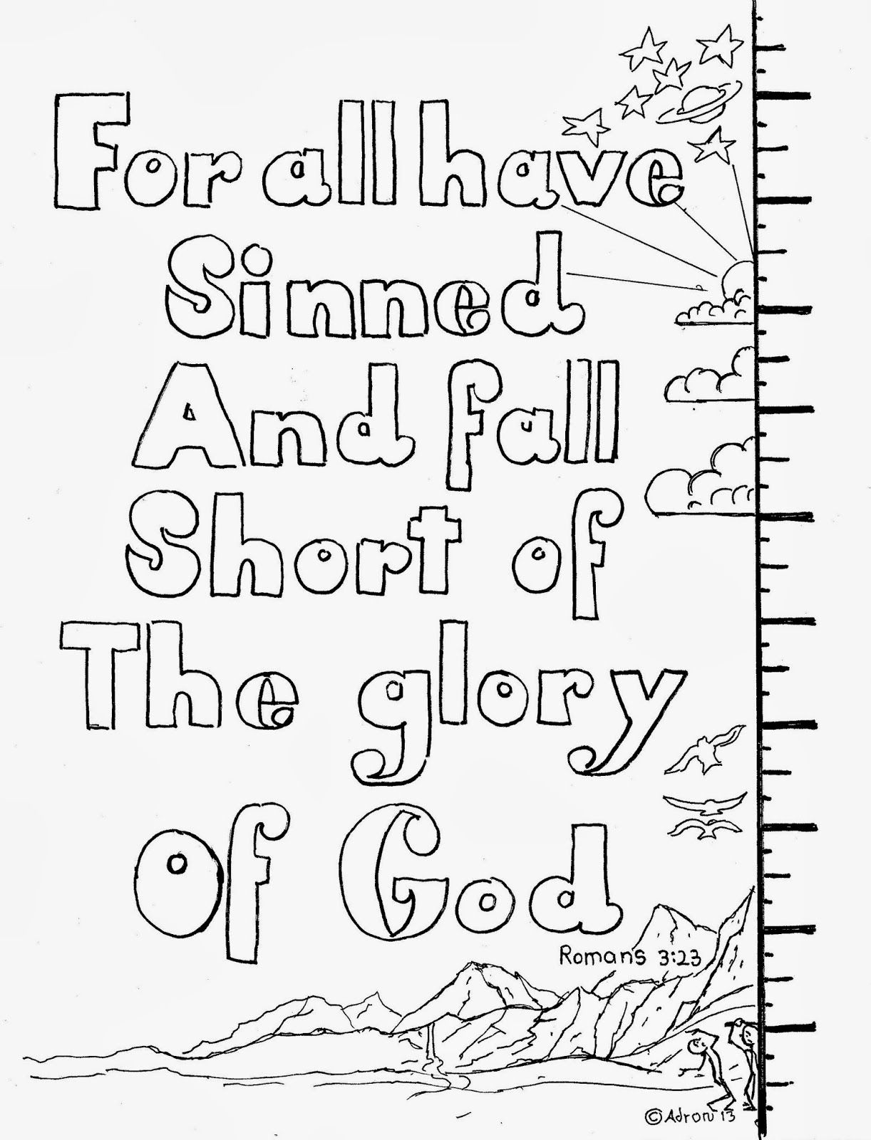 For all have sinned coloring page. | kids connect and awana | Pinterest