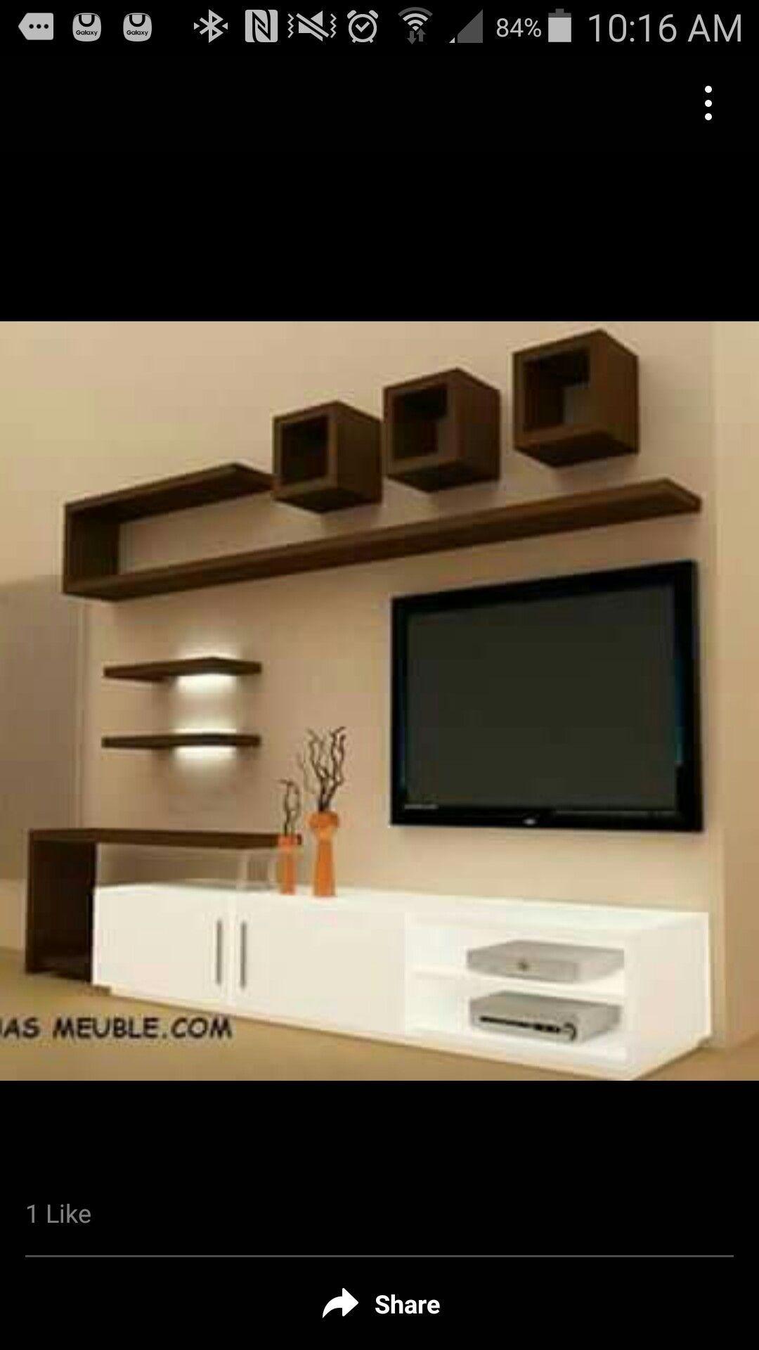 T V Unit Side Veiw Modern Living Room By Ssdecor Modern: Great Idea For My Living Room!