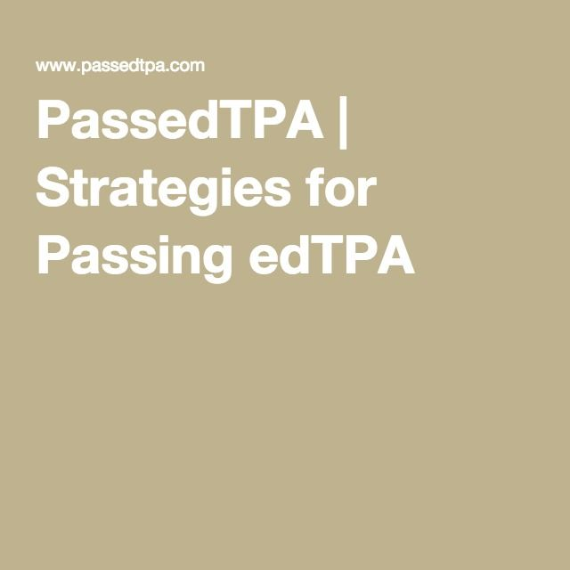 Strategies For Passing Edtpa Teacher Lesson Plans Secondary Science Teaching Classroom