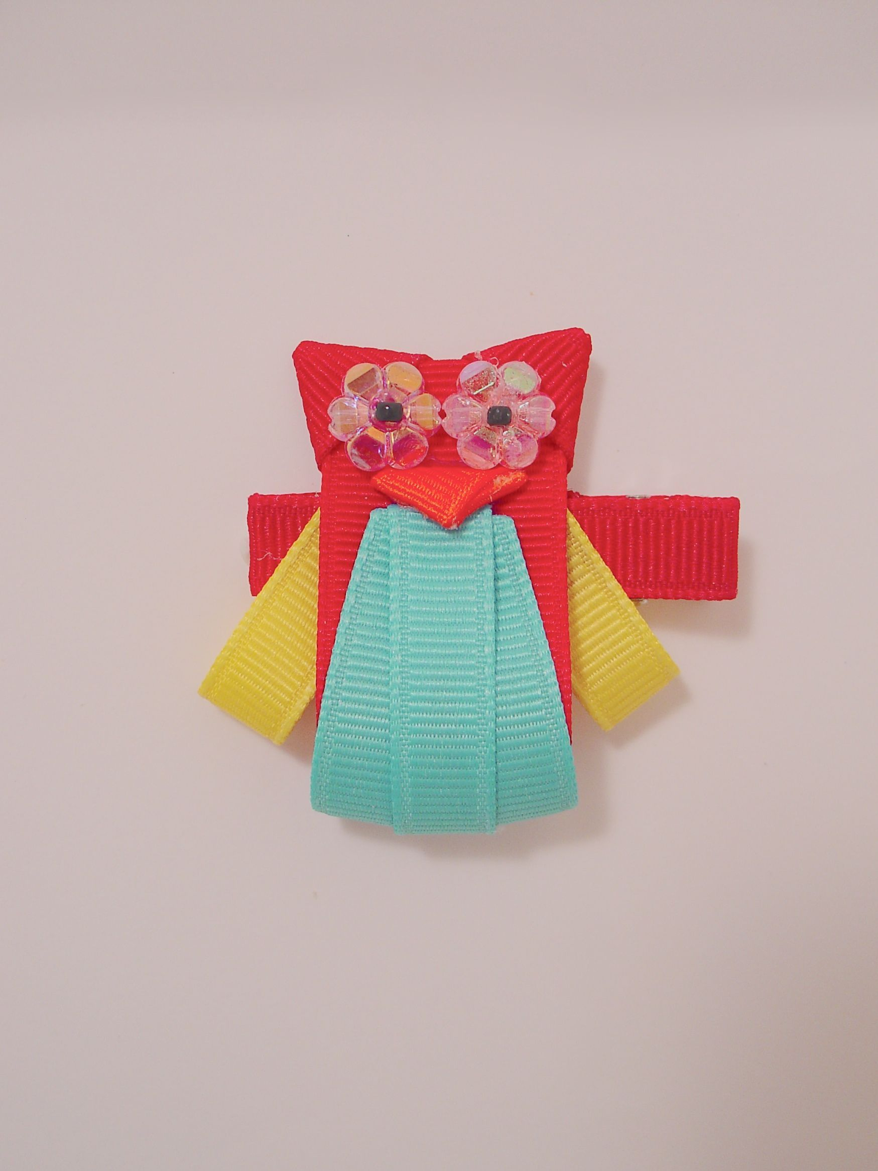 Sculptured Owl 2.0 Hair Bow.  This is my second attempt and more popular version of an owl.