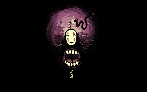 1280x800 Spirited Away's No Face Wallpapers from TeePublic