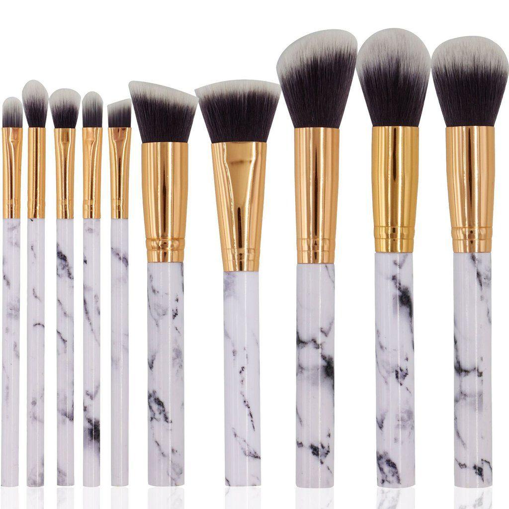 10 Piece Marble Brush Set Makeup Brush Set Contour With Eyeshadow Makeup Brushes