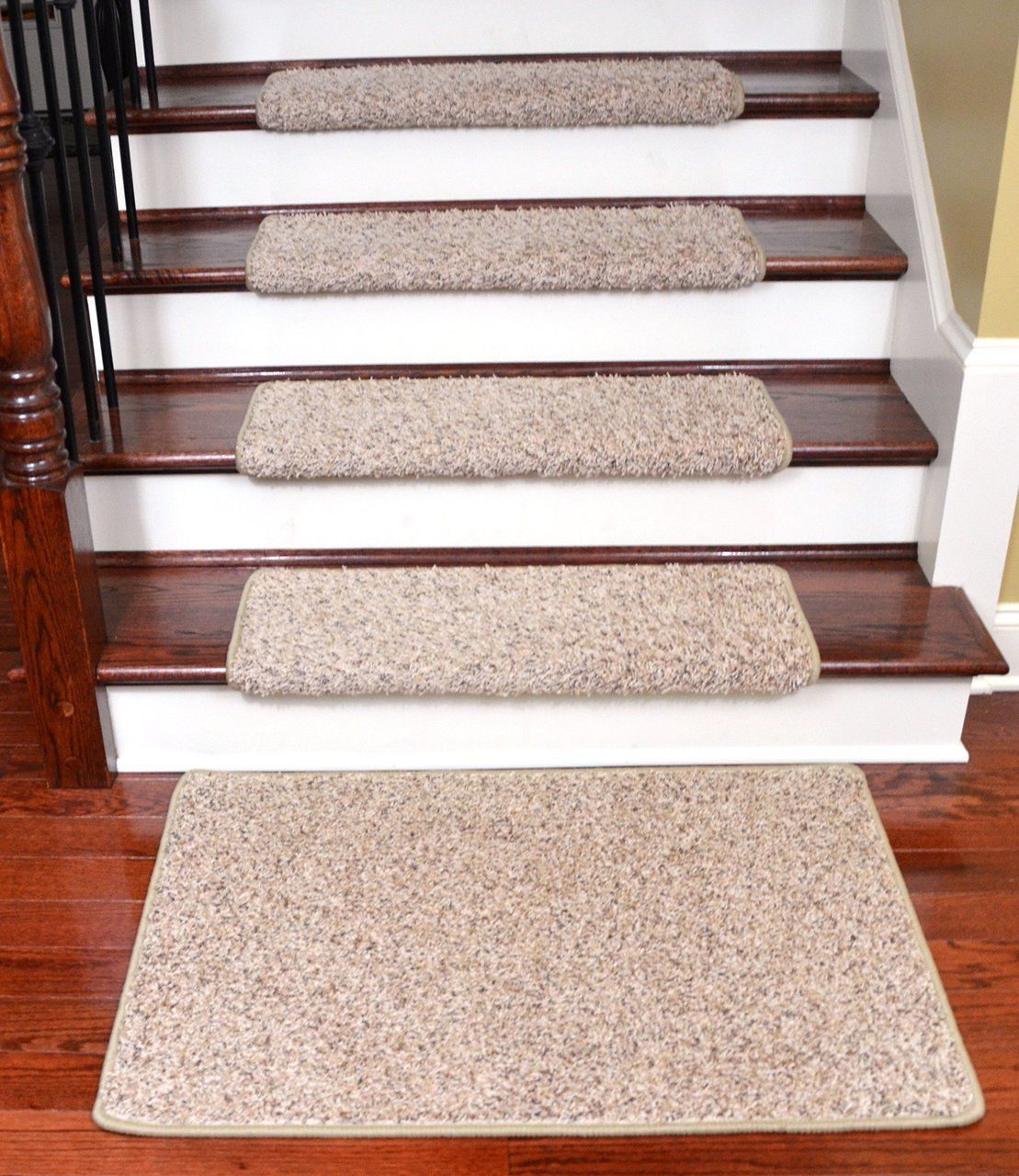 Awesome Dean Modern DIY Peel U0026 Stick Bullnose Wraparound Non Skid Carpet Stair  Treads/Runner