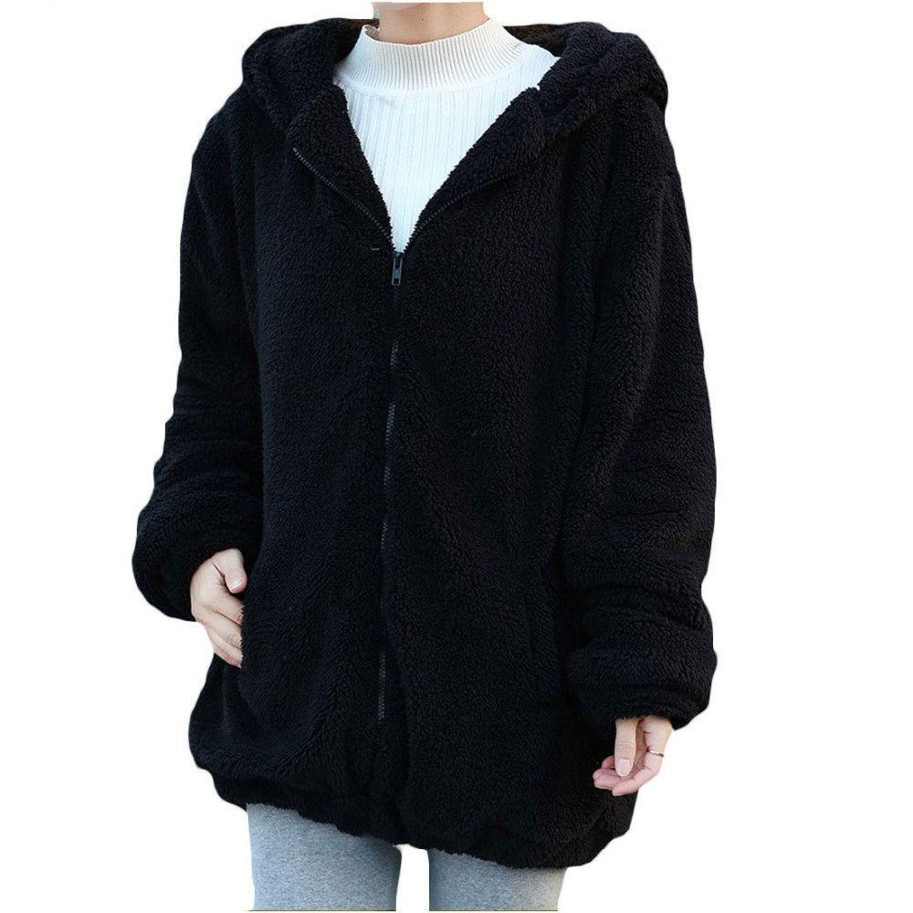 Fluffy bear hoodie