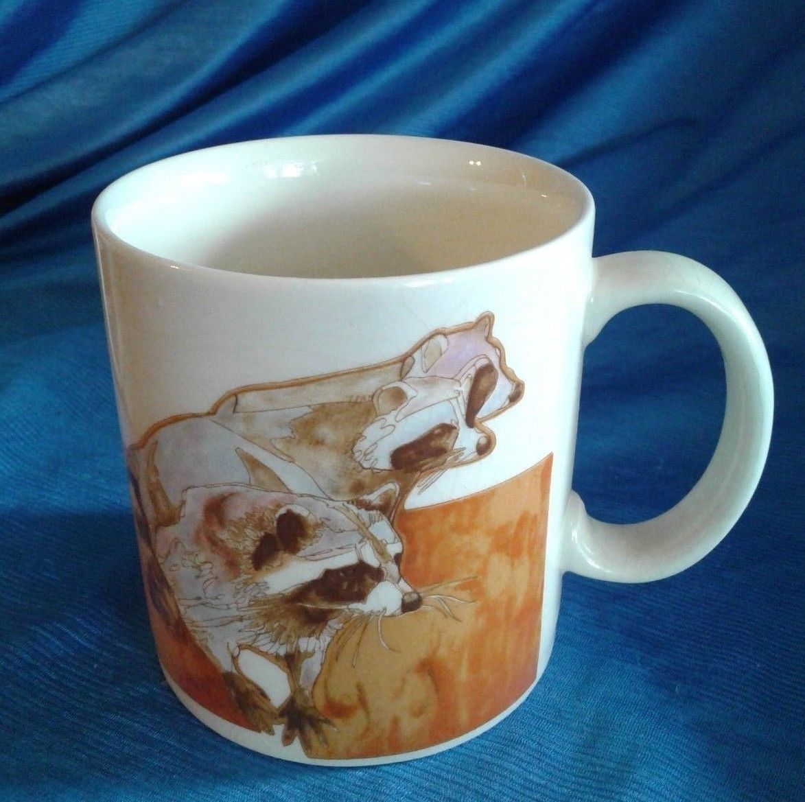 Vintage Coffee Mug Cup OTAGIRI Japan SET of 3 Raccoon
