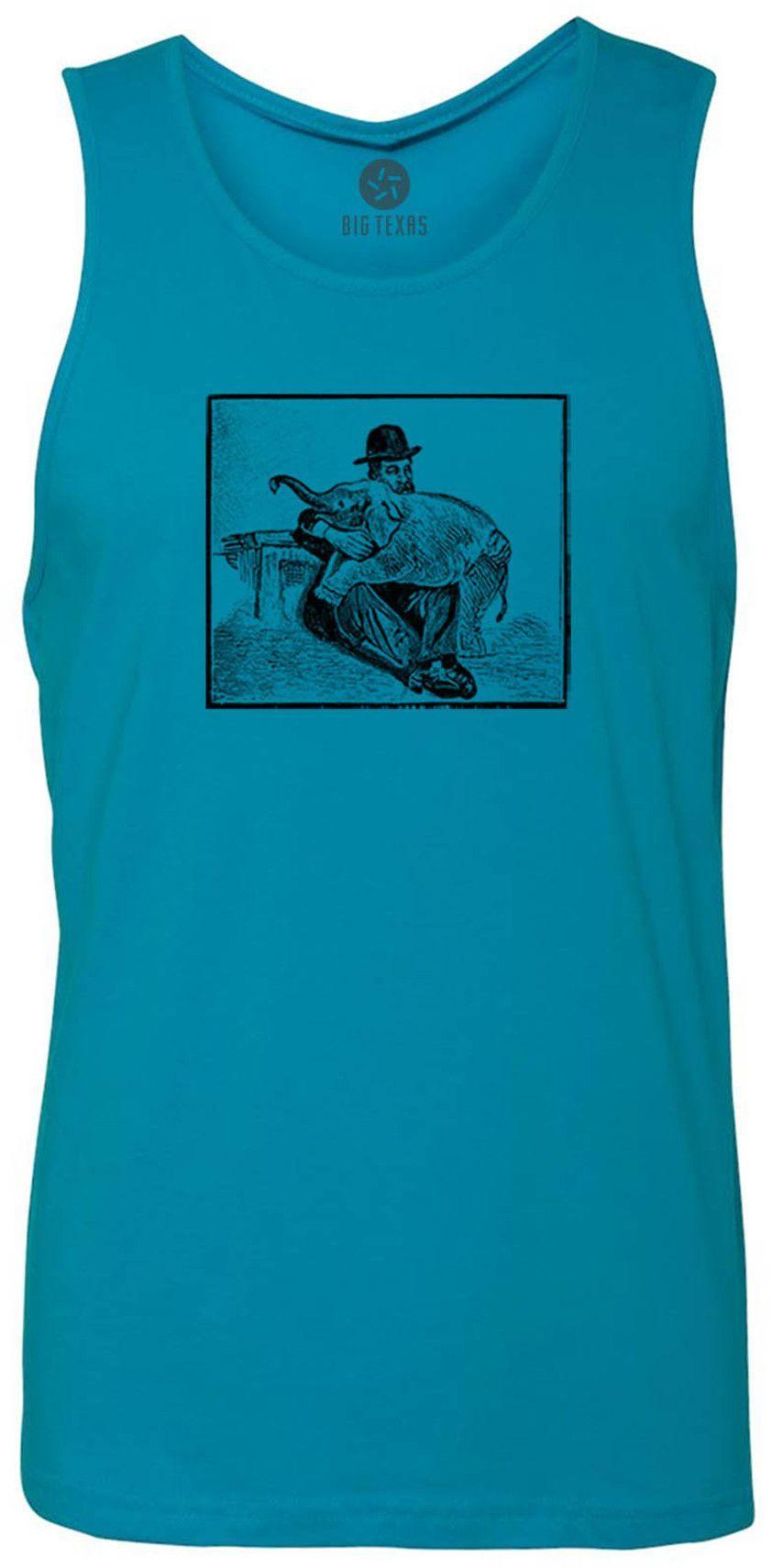 Baby Elephant (Black) Tank-Top T-Shirt