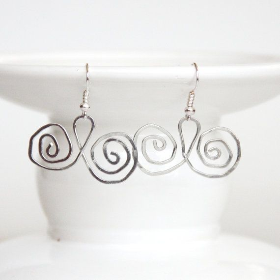 Wire Work Jewelry Mustache Earrings Hammered by CraftedLocally ...