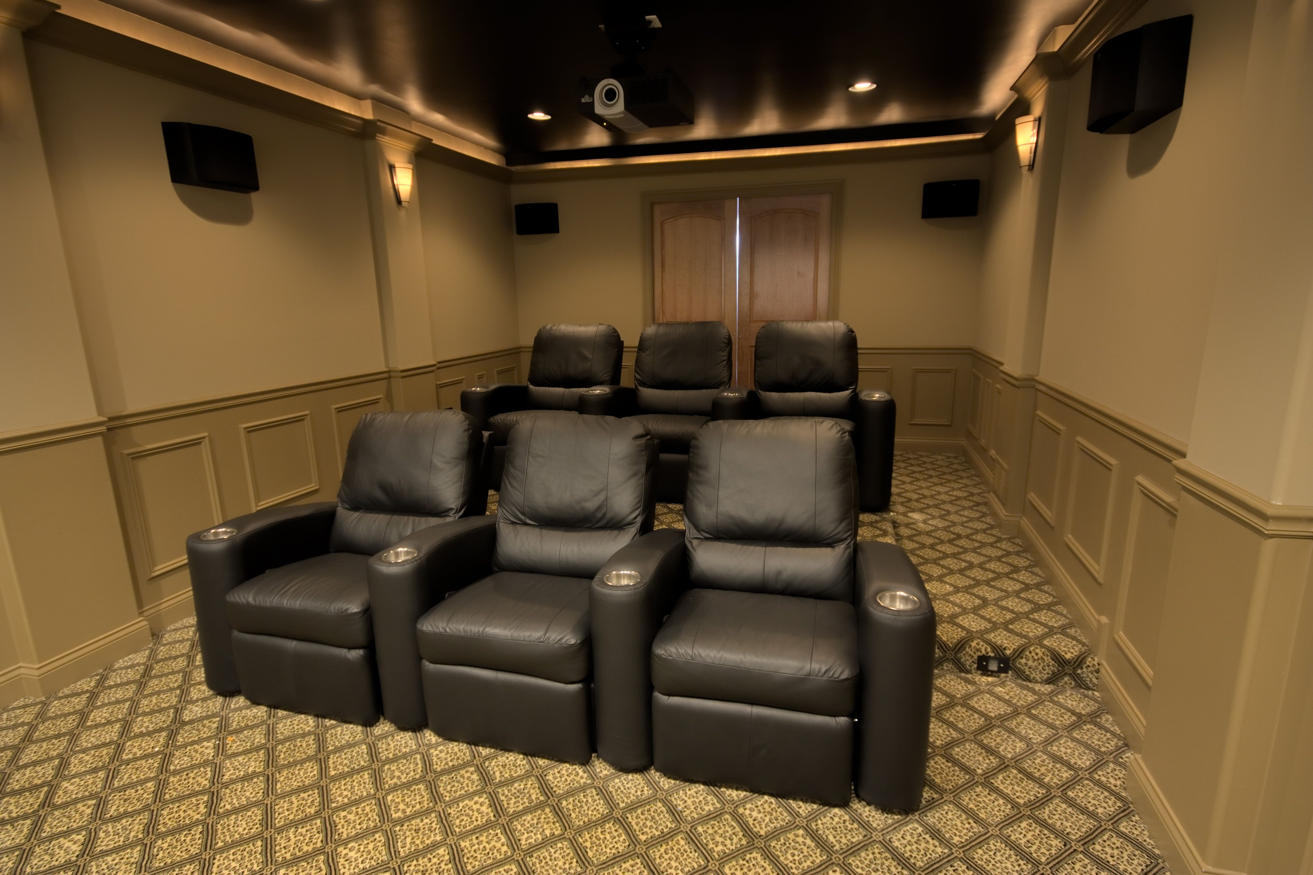 Theatre Room Chairs Outdoor Sports Balancing The Budget Home Theater Design Basement Sound Vision Cinema Rooms