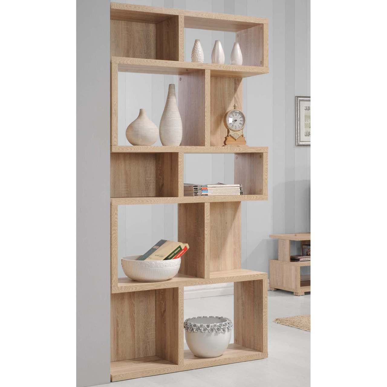 Sorrento Cube Shelf Unit Oak Shelves Shelf Unit Wide Bookcase
