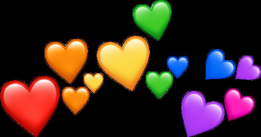Emojis Emoji Rainbow Hearts Red Orange Yellow Green Blue Purple Pink Sticker Art Emoji Wallpaper Colorful Heart