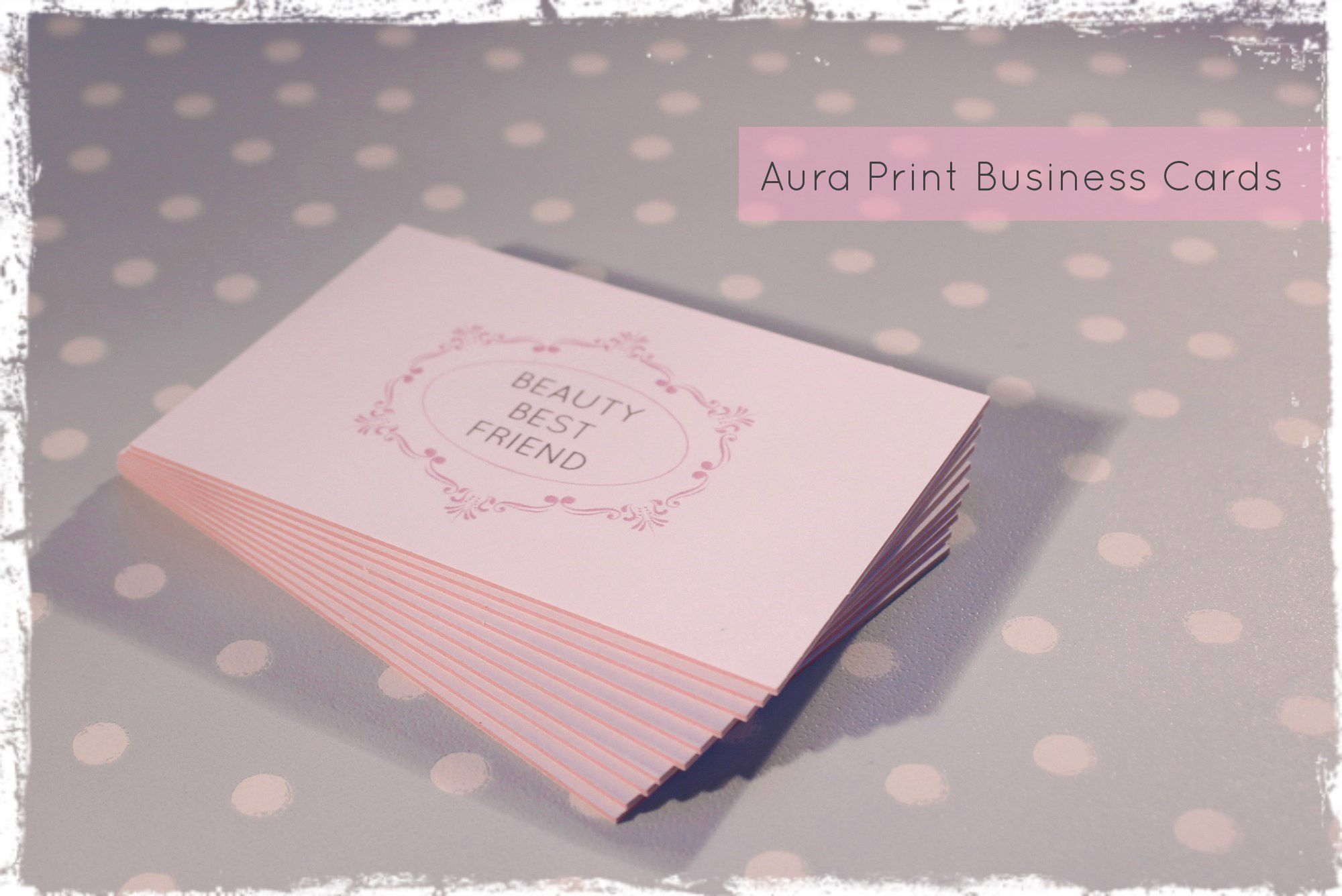 Blogger business cards business cards aura print business cards review by beauty best friend reheart Gallery