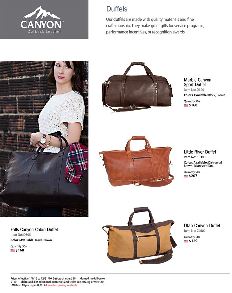 Quality Leather Duffels from Canyon Outback!