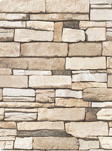 Robot Check Brick And Stone Brick Wallpaper Vinyl Paper