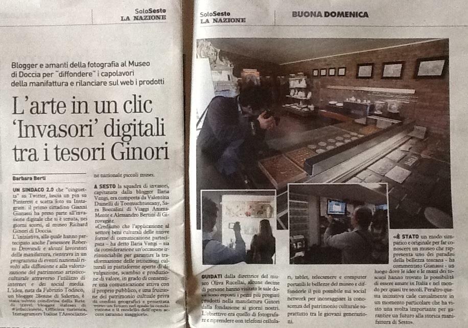 La Nazione - Sesto #InvasioniDigital al museo Doccia
