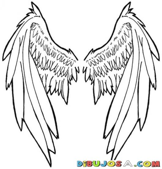 Alas De Angel Para Pintar Y Colorear | COLOREAR DIBUJOS DE CHOLO ...