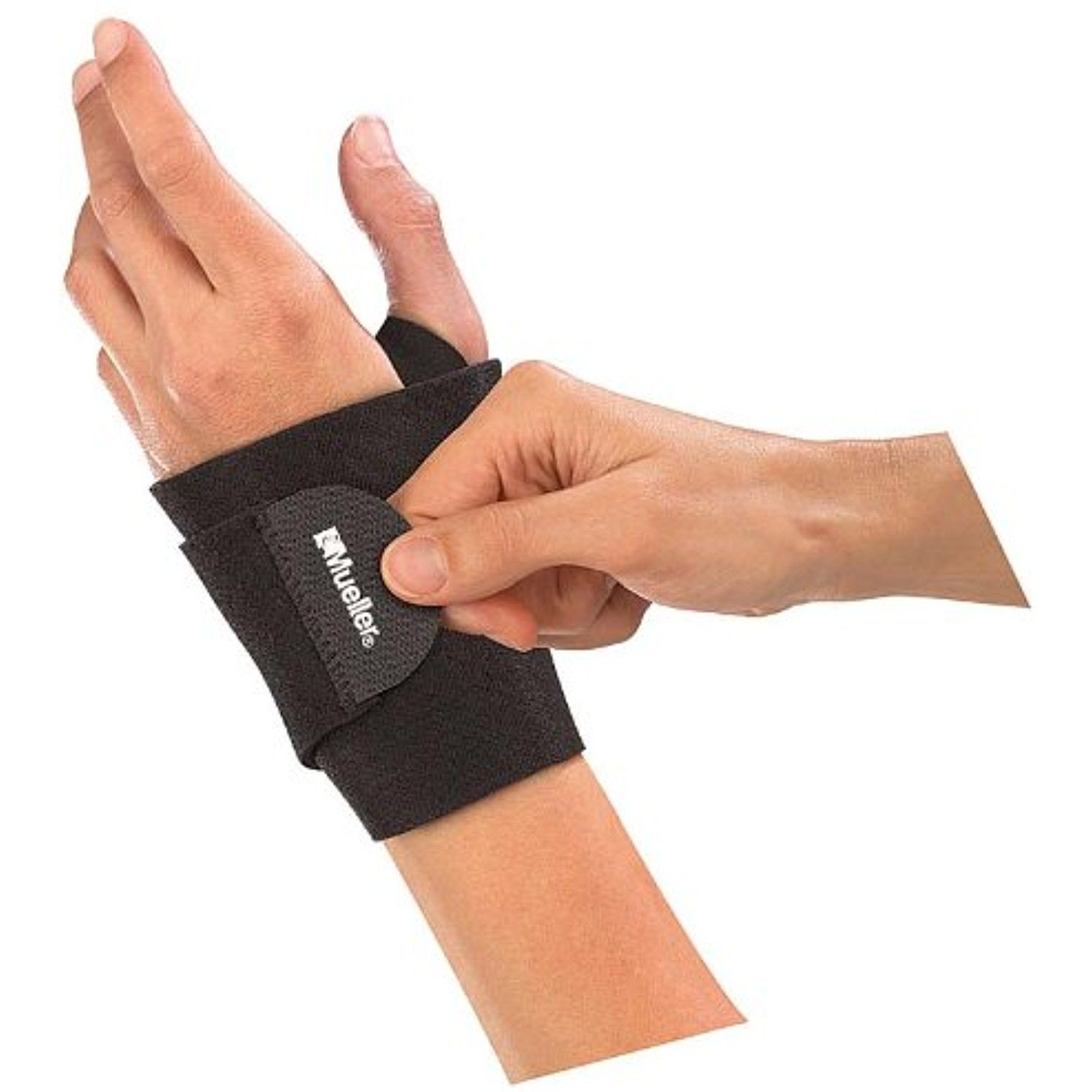 Mueller Wrist Support Wrap, Black, One Size * Check this