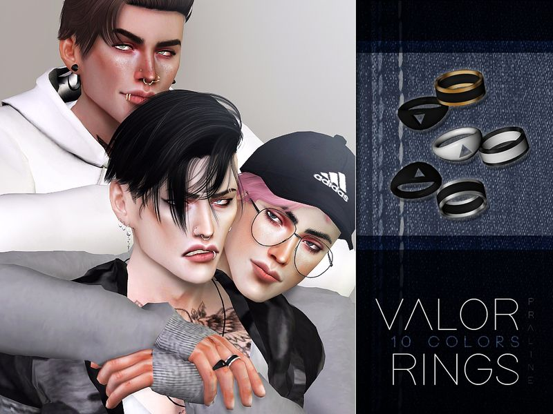 Rings in 10 colors  Found in TSR Category 'Sims 4 Male Rings