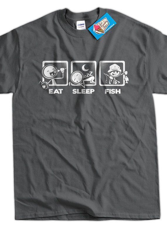 Fishing TShirt Fish TShirt Eat Sleep Fish TShirt by IceCreamTees, $14.99
