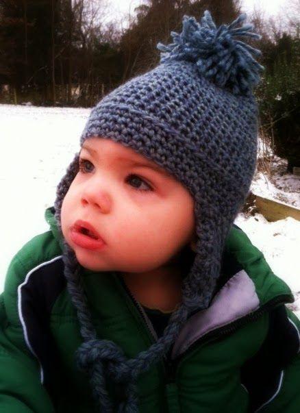 fa591df1 Toddler Earflap Hat - Free Crochet Pattern | Crochet Patterns ...