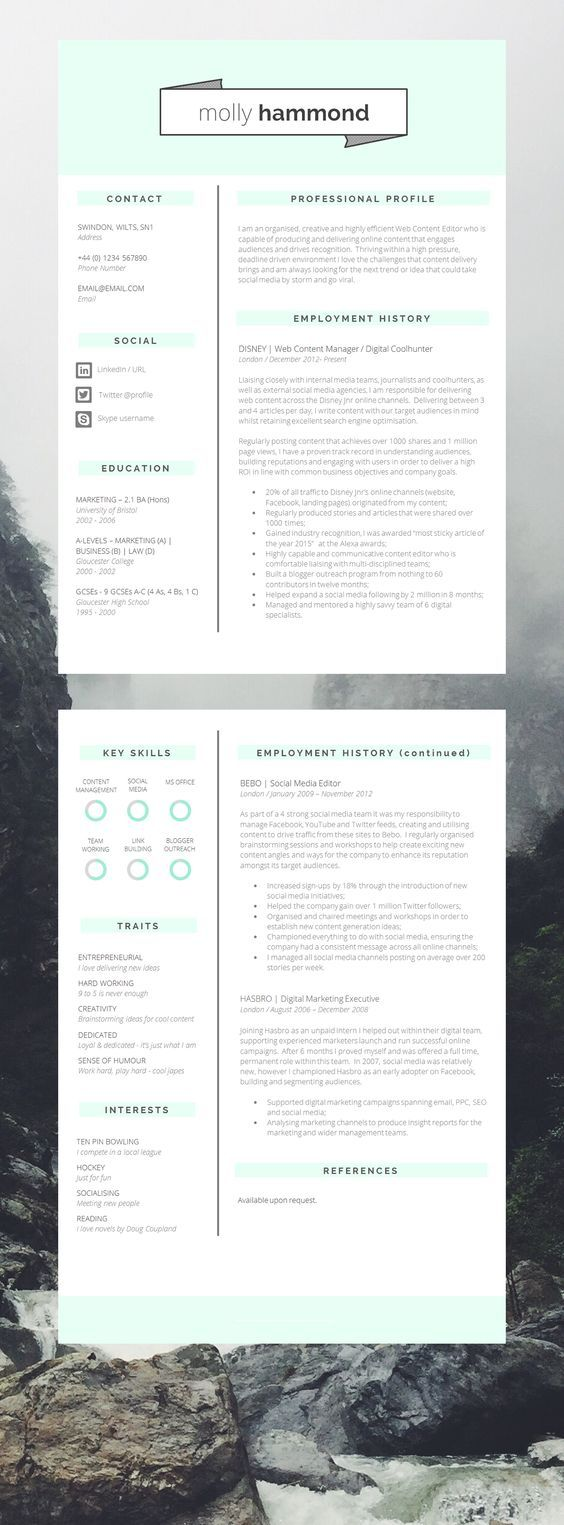 2 proven resume templates you can download now. lebenslauf muster ...