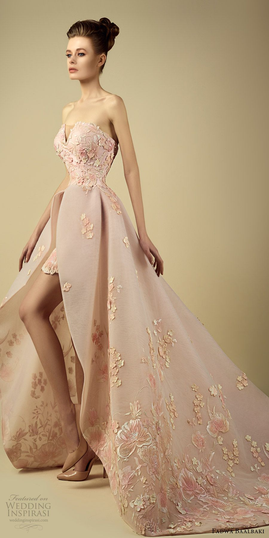 """Fadwa Baalbaki Spring 2017 Couture Dresses — """"Symphonie Florale ..."""
